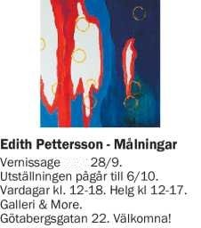 Edith Pettersson Gallery and More Sweden 2019 Vernissage